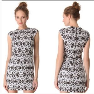 Theory Orinthia Ikat Printed Mini Dress